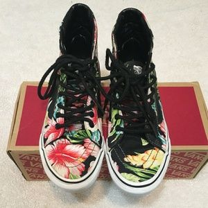 Shoes - ***Vans Off the Wall floral High Top sneakers**